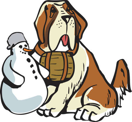 st bernard: I love my cute dog.  A perfect gift for the dog owner from Great Notions. Illustration