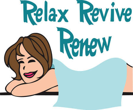 revive: Everyone loves a massage.  The perfect design for your studio. Illustration