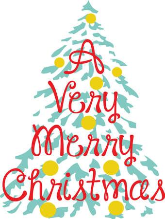 ほっほっほ! すべてのこのユニークなクリスマス ツリー メリー クリスマス!  イラスト・ベクター素材