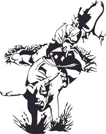 Pak je laarzen en cowboyhoed en ga naar de rodeo. Vergeet niet om dit aanbiddelijke ontwerp geven voor uw favoriete cowboy. Hij zal van het houden! Stockfoto - 45446801