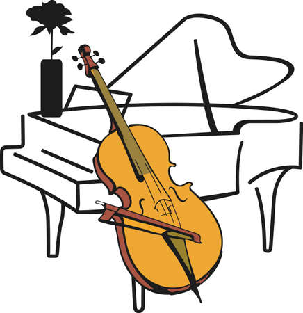 This piano and cello design is perfect for your band student.  Another fun design from Great Notions. Ilustrace