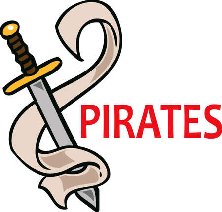 love is it: Show your team spirit with this Pirates  logo.  Everyone will love it! Illustration