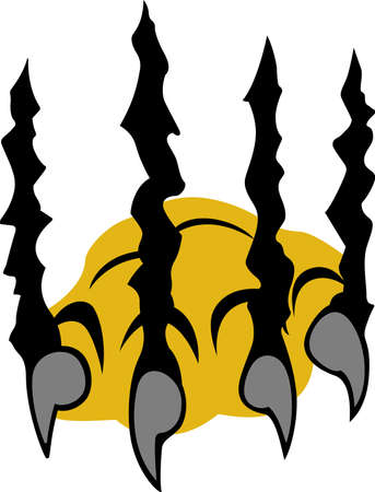 bengal cat: These scary claws are perfect for your Halloween party.  Grab this design from Great Notions.