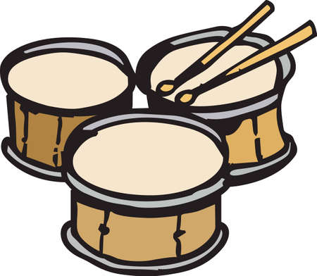 This drums design is perfect for your band student.  Another fun design from Great Notions. Иллюстрация