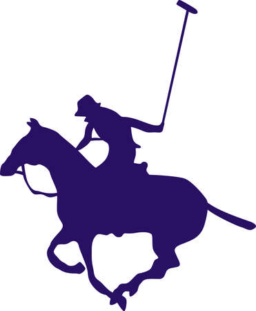 Polo players spend a lot of time practicing the game.  Give them a shirt with this polo image.  They will love it! Ilustrace