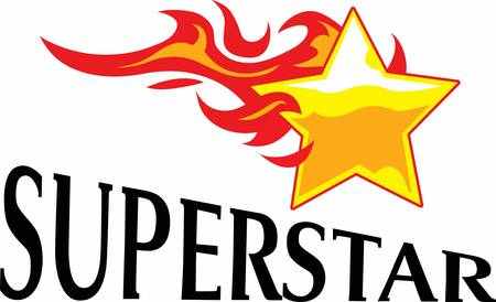 Give this superstar to your child to see them light up with joy when they see this neat flaming design.