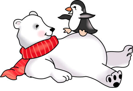 south pole: Send some Christmas cheer with these cute bear and penguin.  Joy, peace and love!  These make a perfect house warming gift.  They will love it!