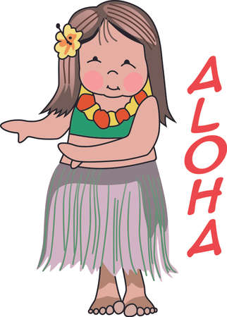 leis: Enjoy the Hula dance with this design by Greatnotions.