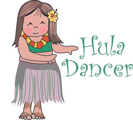 Enjoy the Hula dance with this design by Greatnotions.