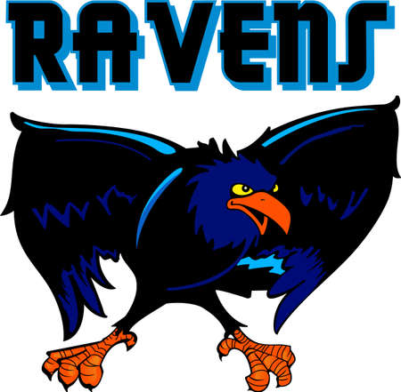 blackbird: Show your team spirit with this Raven logo.  Everyone will love it!