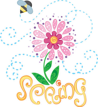 notions: Be happy with the springtime with beautiful flowers and bees.  A beautiful design by Great Notions!