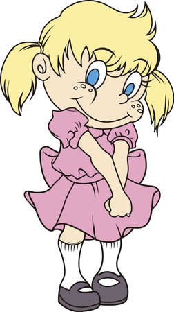 Add this cute shy girl to a shirt or blanket.  Perfect for a baby shower. Illustration