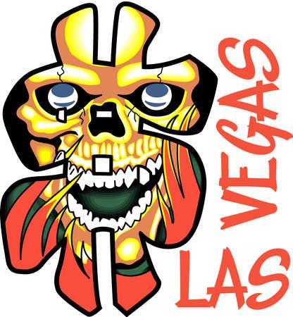 Dit schrik geld schedel is perfect voor Las Vegas voor Halloween dit jaar.