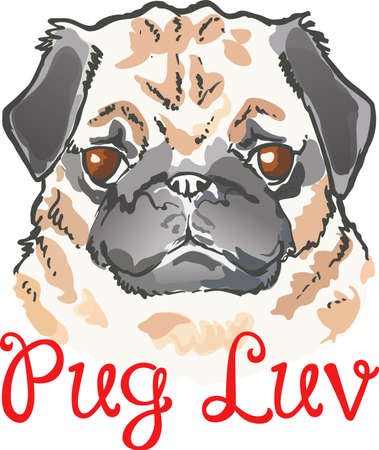 hard love: My best friend is hard at work for me.  Show everyone how much your dog means to you.  They will love it. Illustration