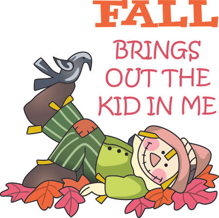 A scarecrow is a perfect fall decoration.  Get these designs from Great notions.