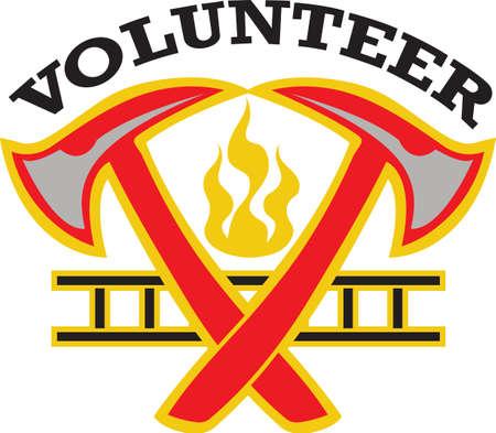 소방관은 매일 생명을 구하기 위해 일합니다. 당신이 그들의 봉사에 얼마나 감사하는지 그들에게 보여주십시오. 일러스트