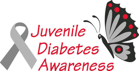 Support diabetes awareness to help those suffering.  Send this hope for a cure to help them! Illusztráció