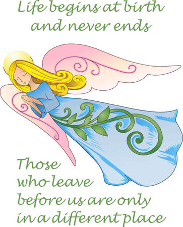 This beautiful angel brings peace to your home.  A beautiful design from Great Notions. Ilustracja