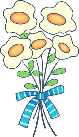 Looking for something unique  Look no further than a fried egg floral bouquet.
