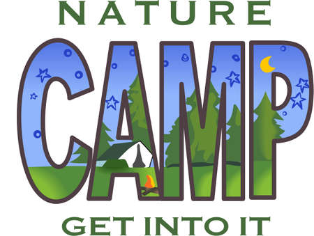 the great outdoors: Get out there and enjoy family time in the great outdoors.  Use this design from Great Notions on your camping gear! Illustration