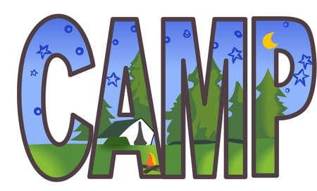 Get out there and enjoy family time in the great outdoors.  Use this design from Great Notions on your camping gear! Ilustrace