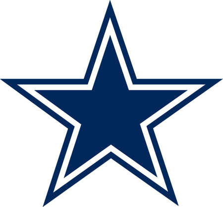 Show your team spirit with this Texas Cowboys logo.  Everyone will love it. Ilustracja