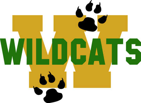 wildcats: Show your team spirit with this Wildcats logo.  Everyone will love it. Illustration