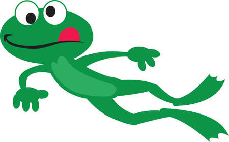 crazy frog: Hop on over to celebrate Valentines Day. Give this adorable toad to the one you love!   Im toadally in love with you! Illustration