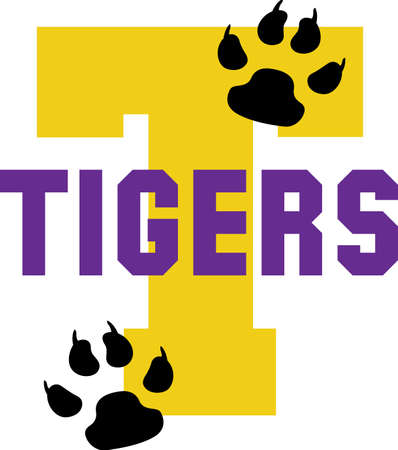 Show your team spirit with this Tigers logo.  Everyone will love it. Illustration