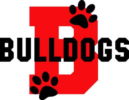 Mostrar su espíritu de equipo con este logotipo Bulldogs. Todo el mundo va a encantar. Foto de archivo - 45171442