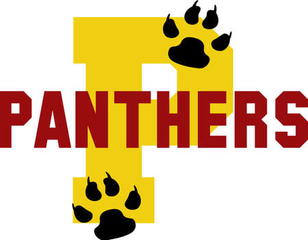 team spirit: Show your team spirit with this Panthers logo.  Everyone will love it. Illustration