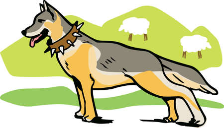 I love my German Shepherd.  This is a perfect design for dog owners from Great Notions. 向量圖像