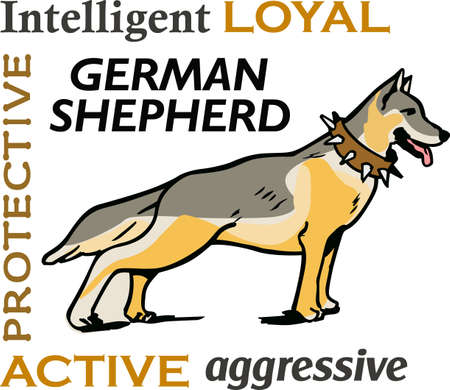 pure bred: I love my German Shepherd.  This is a perfect design for dog owners from Great Notions. Illustration
