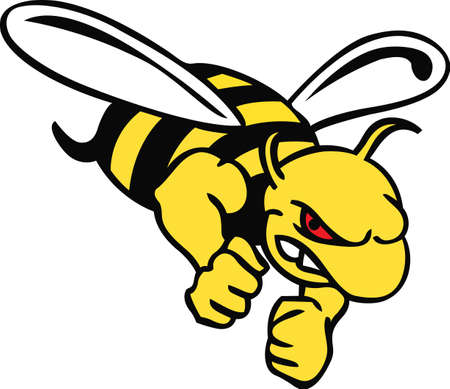 yellow jacket: Show your team spirit with this Yellow Jacket logo.  Everyone will love it.