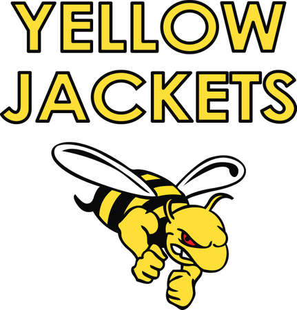 Show your team spirit with this Yellow Jacket logo.  Everyone will love it.