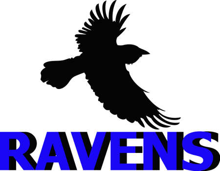 blackbird: Show your team spirit with this Ravens logo.  Everyone will love it! Illustration