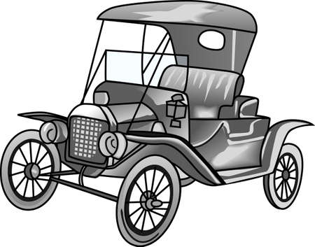 The model T car is a perfect design to wear to the next antique car show.