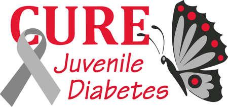 Ondersteuning van diabetes voorlichting aan die lijden te helpen. Stuur deze hoop op genezing om hen te helpen! Stockfoto - 45171619