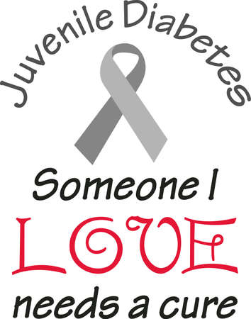 Support diabetes awareness to help those suffering.  Send this hope for a cure to help them! Ilustracja