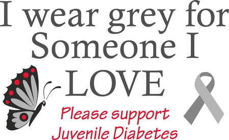 juvenile: Support diabetes awareness to help those suffering.  Send this hope for a cure to help them! Illustration