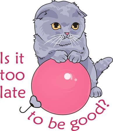 Neem uw kat overal mee naar toe. Een leuk ontwerp van Great Notions. Stock Illustratie