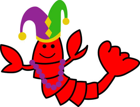 crawfish: Get ready for the Mardi Gras parties with this fantastic crawfish.  Grab these designs from Great Notions.
