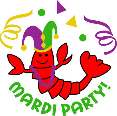 mardigras: Get ready for the Mardi Gras parties with this fantastic crawfish.  Grab these designs from Great Notions.