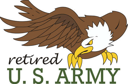 armed force: Let them know you are proud of your hero.  Show support for our troops with this special design. Illustration