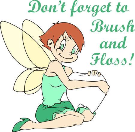 Ik verloor mijn 1 tand; Im klaar voor de tandenfee om mij te bezoeken. Geef dit aan uw kind als ze verliezen hun tanden. Zij zal zo opgewonden zijn! Stock Illustratie
