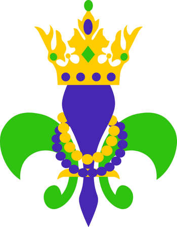Get ready for the Mardi Gras parties with this fantastic Fleur de Lis.  Grab these designs from Great Notions. Vettoriali