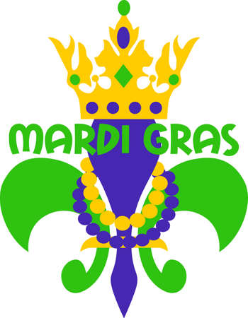 Get ready for the Mardi Gras parties with this fantastic Fleur de Lis.  Grab these designs from Great Notions. Çizim