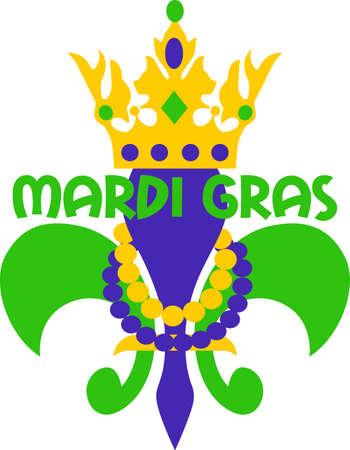 Prepárate para las fiestas del carnaval con esta fantástica flor de lis. Coge estos diseños de grandes conceptos. Foto de archivo - 45171765