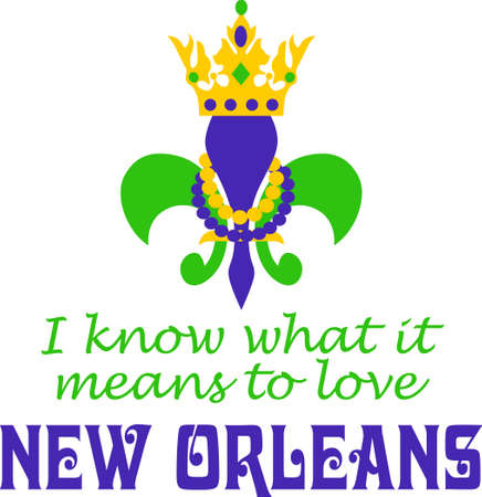 notions: Get ready for the Mardi Gras parties with this fantastic Fleur de Lis.  Grab these designs from Great Notions. Illustration