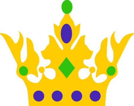 Prepárate para las fiestas del carnaval con esta fantástica corona. Coge estos diseños de grandes conceptos. Foto de archivo - 45171767